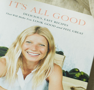 """It's All Good"" Gwyneth's new cookbook. Via goop.com ."