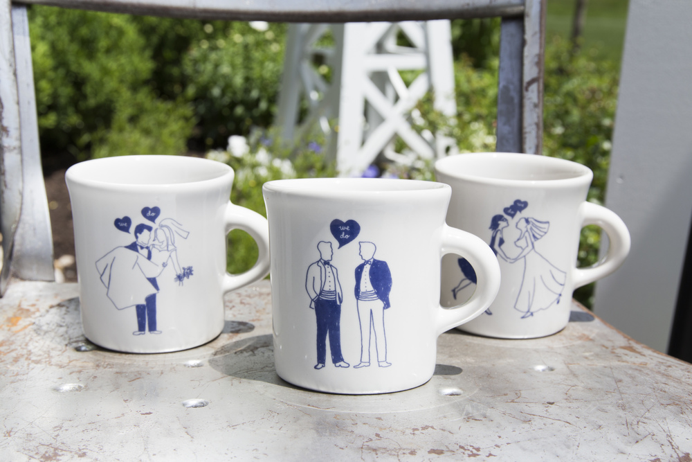Cutie coffee mugs for every kind of couple.  #lovewins