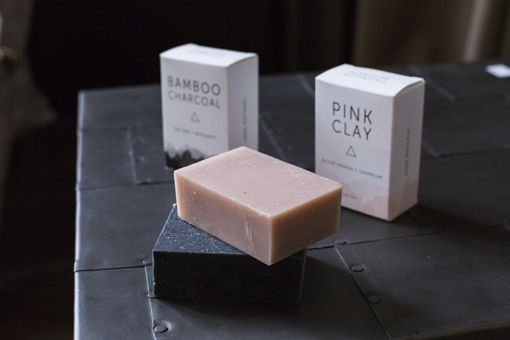 Bamboo Charcoal and Pink Clay soaps cleanse as well as draw out impurities without stripping skin of moisture, for both face and body.