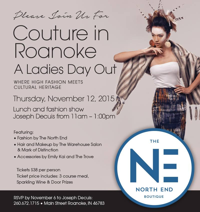 JOIN US FOR THIS FANTASTIC, OH-SO-STYLISH FASHION SHOW BY THE NORTH END AND GOURMET LUNCH BY JOSEPH DECUIS IN #THENOKE!