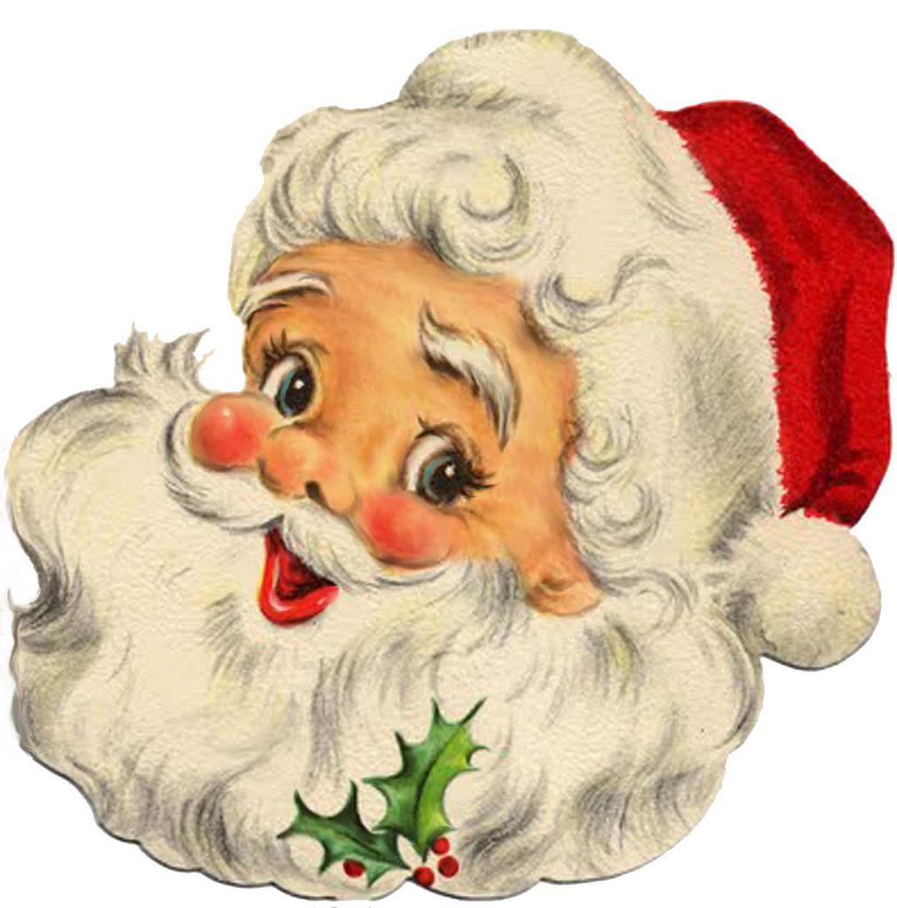 Vintage Santa Claus Face Clipart