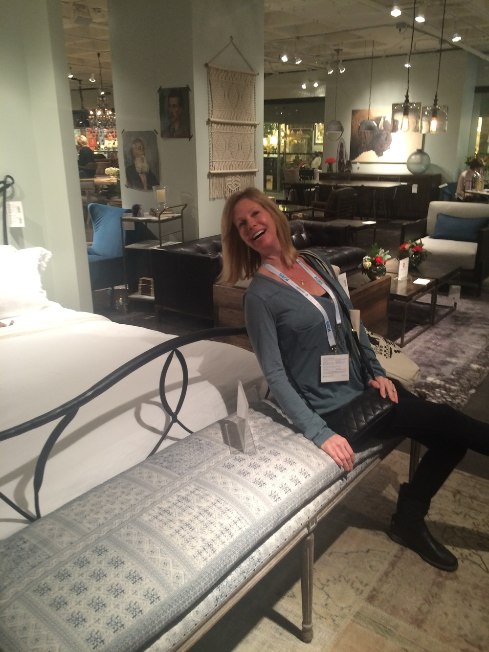 Kitchen islands, awesome tables and  accent pieces - Leslie was clearly having a blast at this booth.