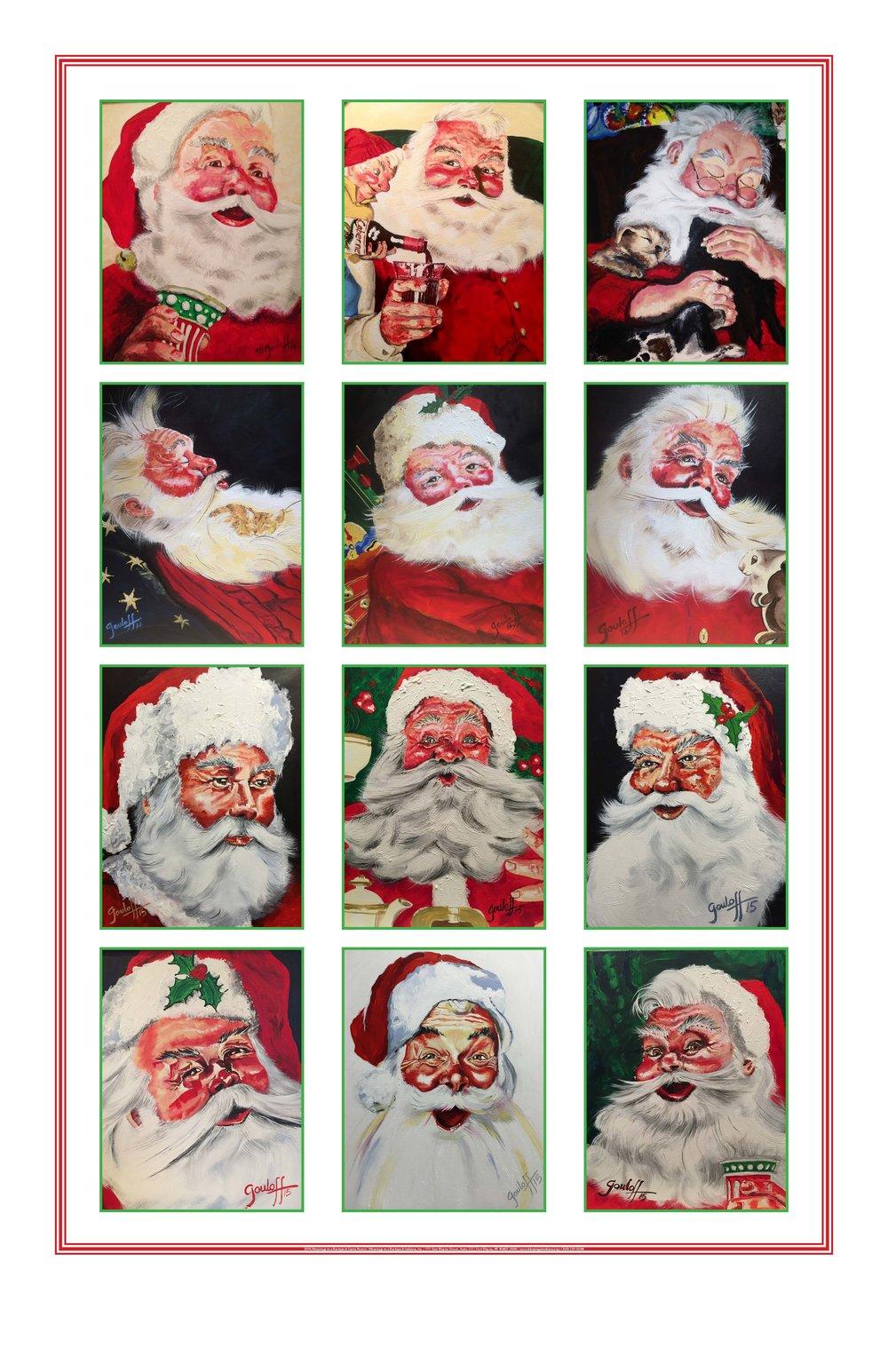 gouloff santa poster
