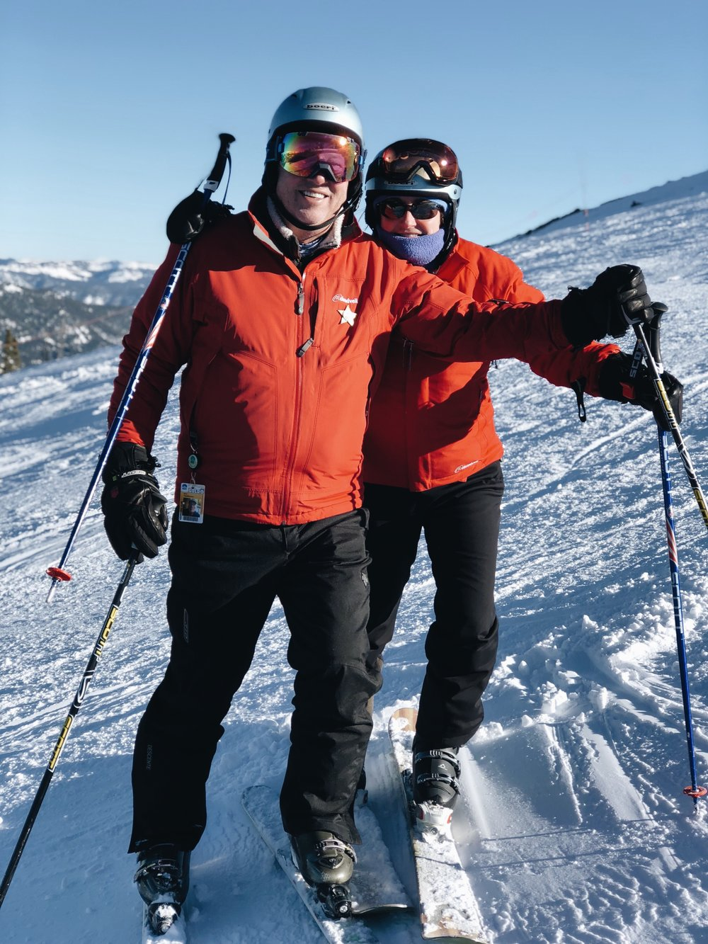 kate and rick skiing
