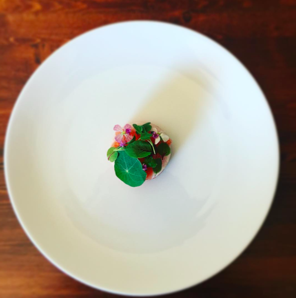 Hamachi, Watermelon, Vanilla
