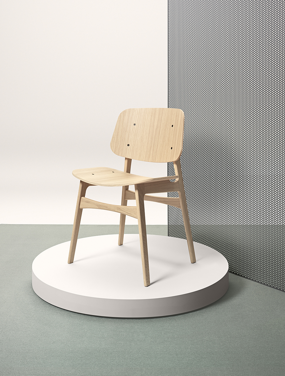 Søborg Chair with Wood Frame