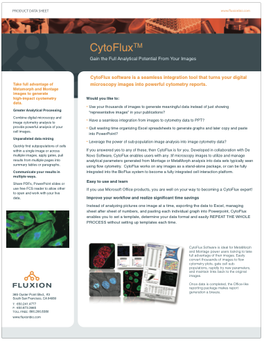 CytoFlux Product Information