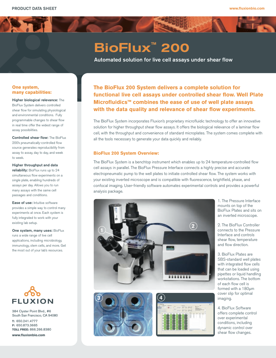 BioFlux 200 Product Information