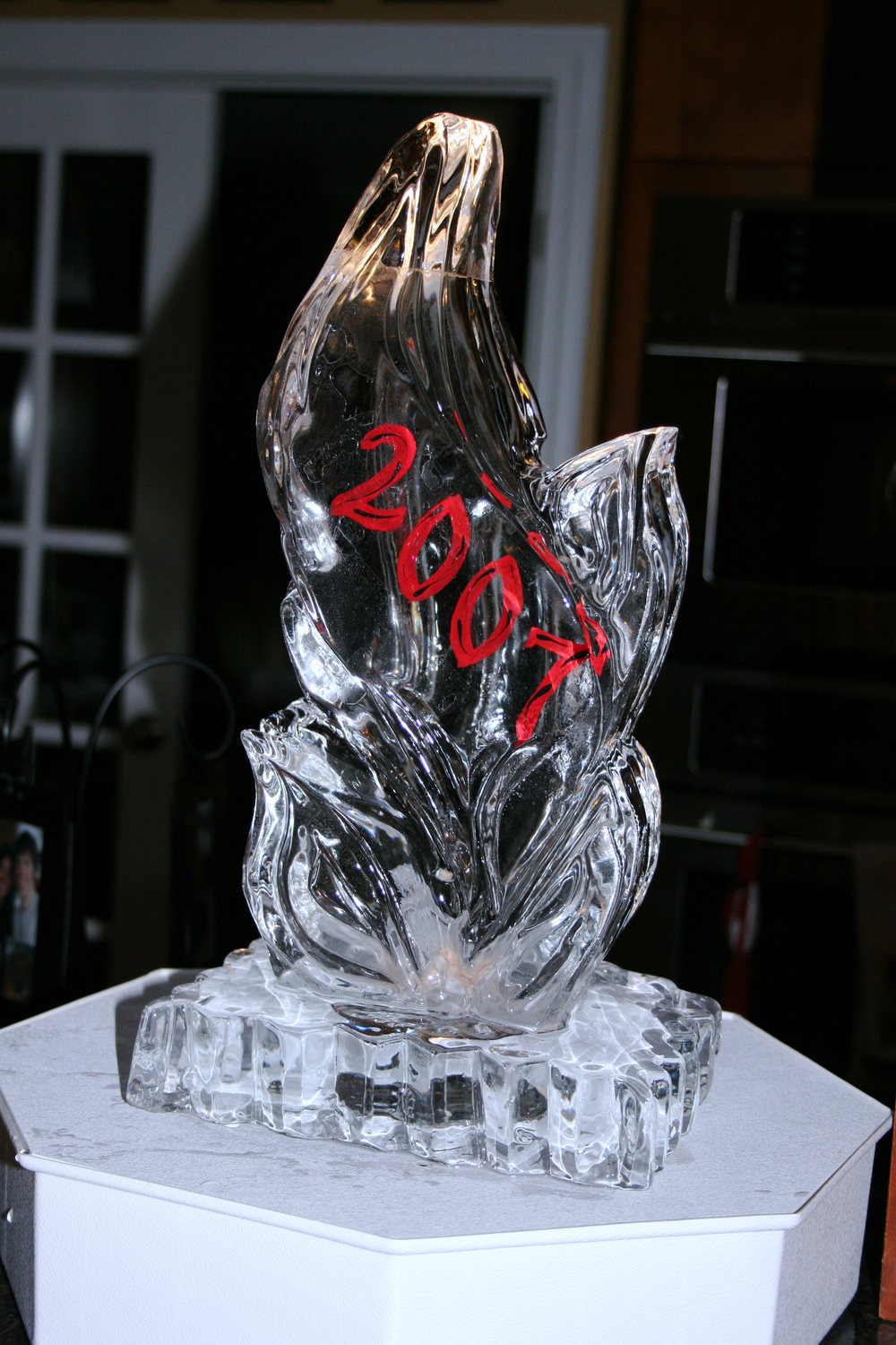Ice Sculpture-Tabletop-Fire and Ice.JPG