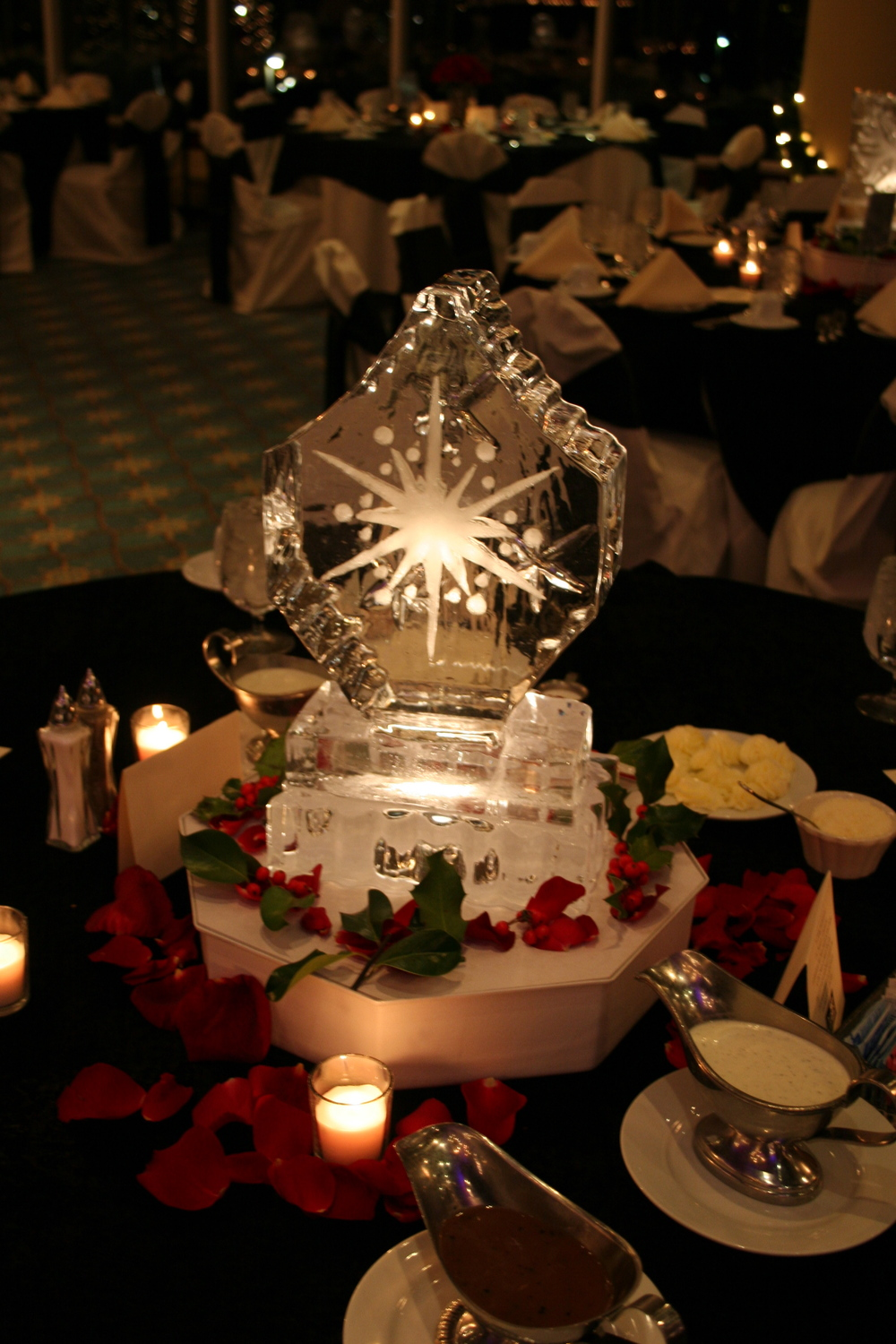 Tabletop- Ice Sculpture- Snowflakes 4.JPG