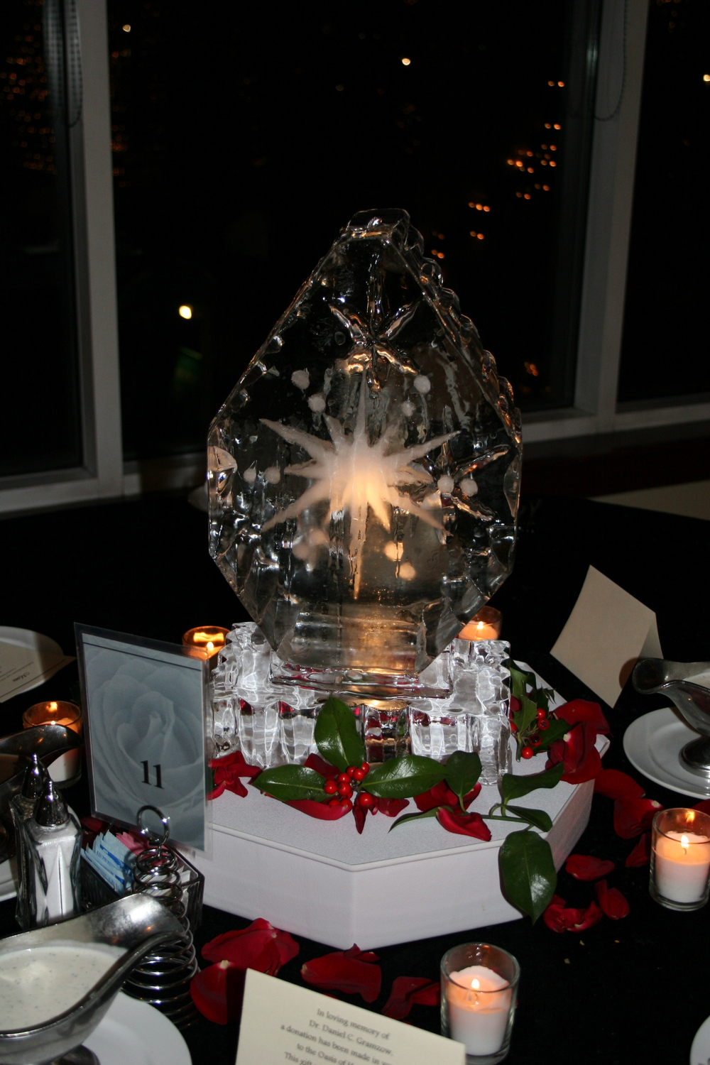 Tabletop- Ice Sculpture-Snowflakes 2.JPG