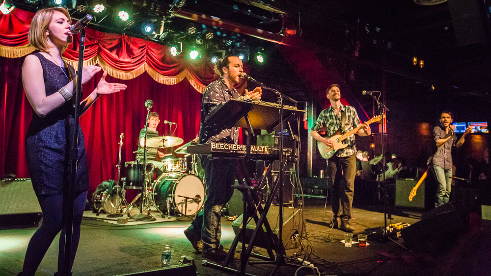 Beecher's Fault playing at the Brooklyn Bowl on Wednesday January 27th, 2016 in Williamsburg, Brooklyn, NY