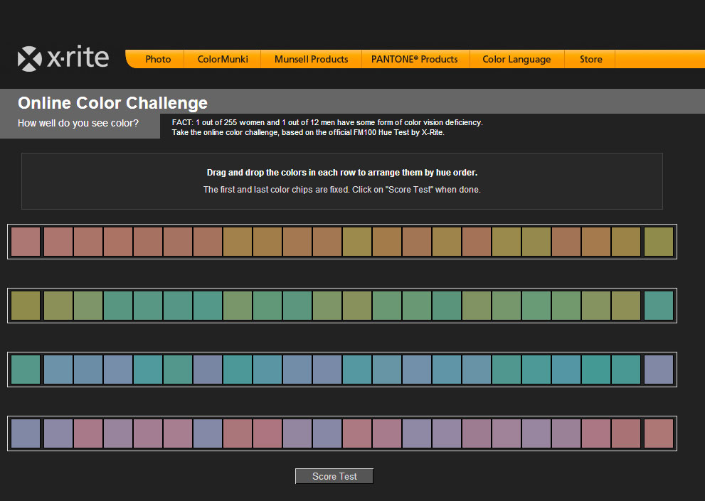 X-Rite Online Color Challenge