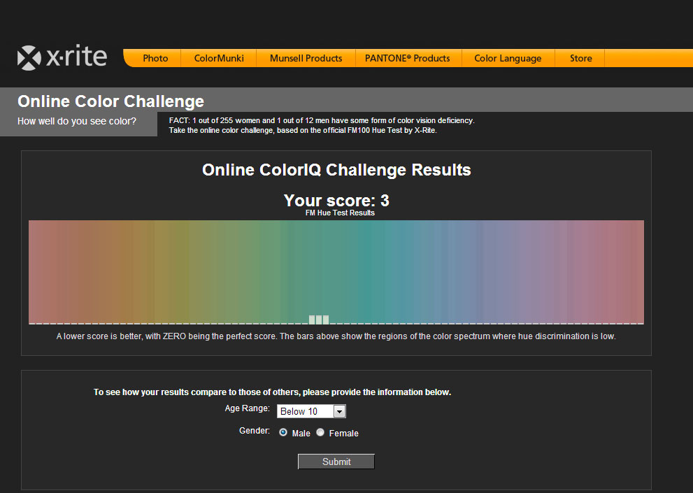X Rite Online Color Challenge Results