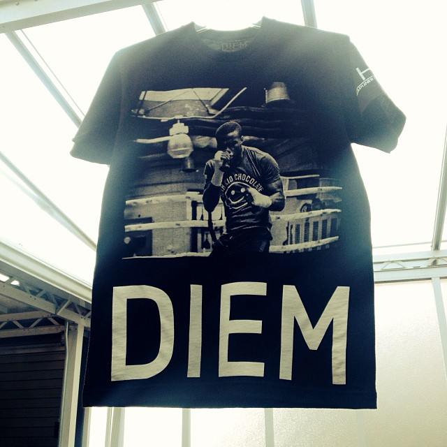 DIEM paid homage to Peter Quillin a.k.a Kid Chocolate.  The boxing champion represents Brooklyn.