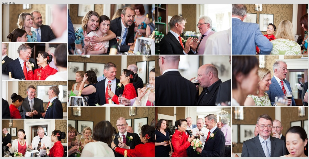 wedding guests collage - reception