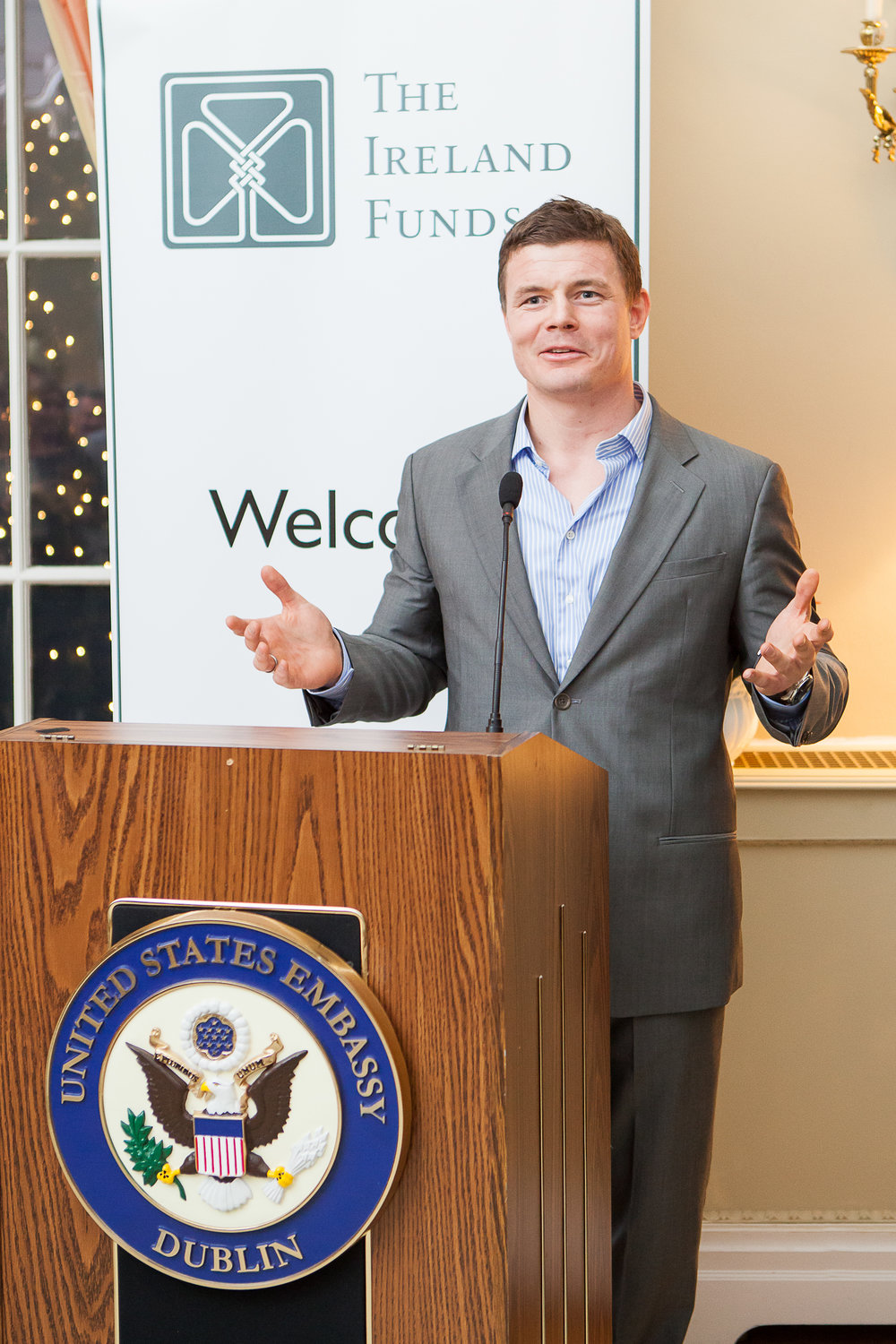 Dee Organ Photography-BOD Brian ODriscoll - Ireland funds event - United states Embassy in Ireland