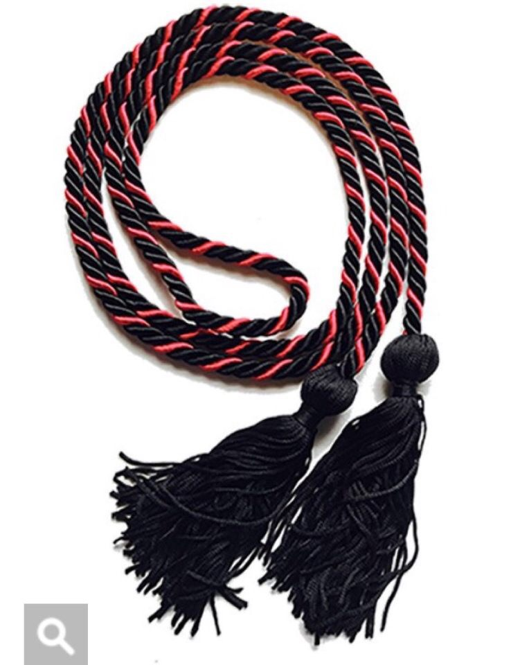 Graduation Cords - Represent AADE-UH in your graduation ceremony with a high quality red and black intertwined cord.Contact Vandilson Pinto with any questions.832-766-4967 | vjpinto@uh.edu