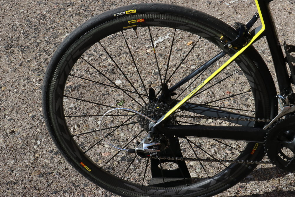 The Mavic Cosmic UST C40's are a great addition to the bike, both in look and ride.