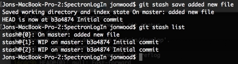 Save git stash with a message