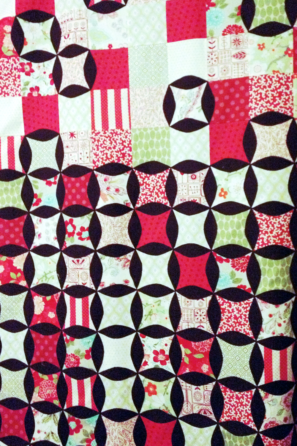 Cherry Coke Quilt  In which I stopped worrying and loved the Instagram filter.