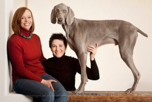 Portrait of Family with Dog