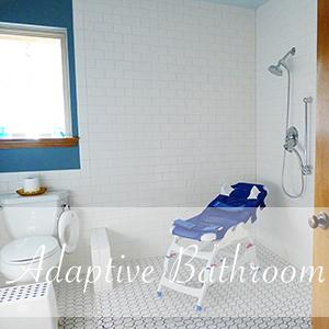 Adaptive Bathroom Remodel, Accessible Bathroom, Open Concept Bathroom