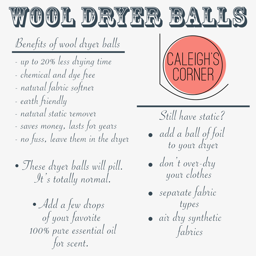 Wool Dryer Balls Information