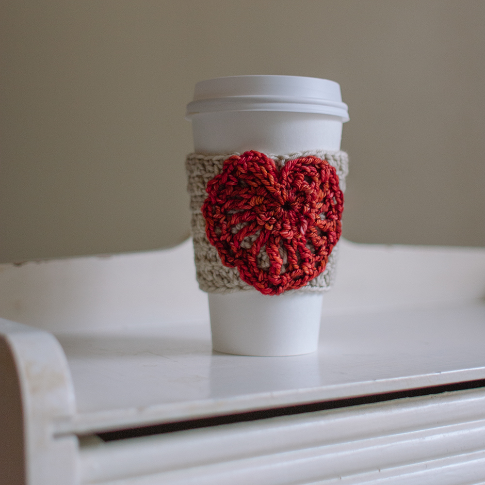 Valentine's Day Heart Cup Cozy