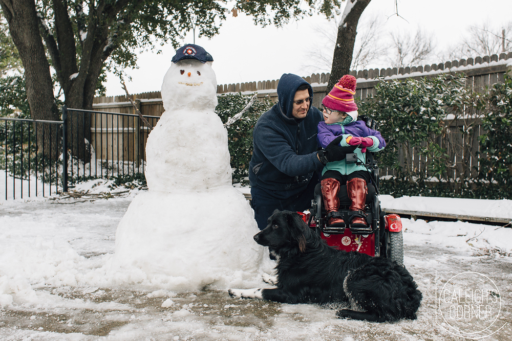 North Texas Snow Day via Caleigh's Corner