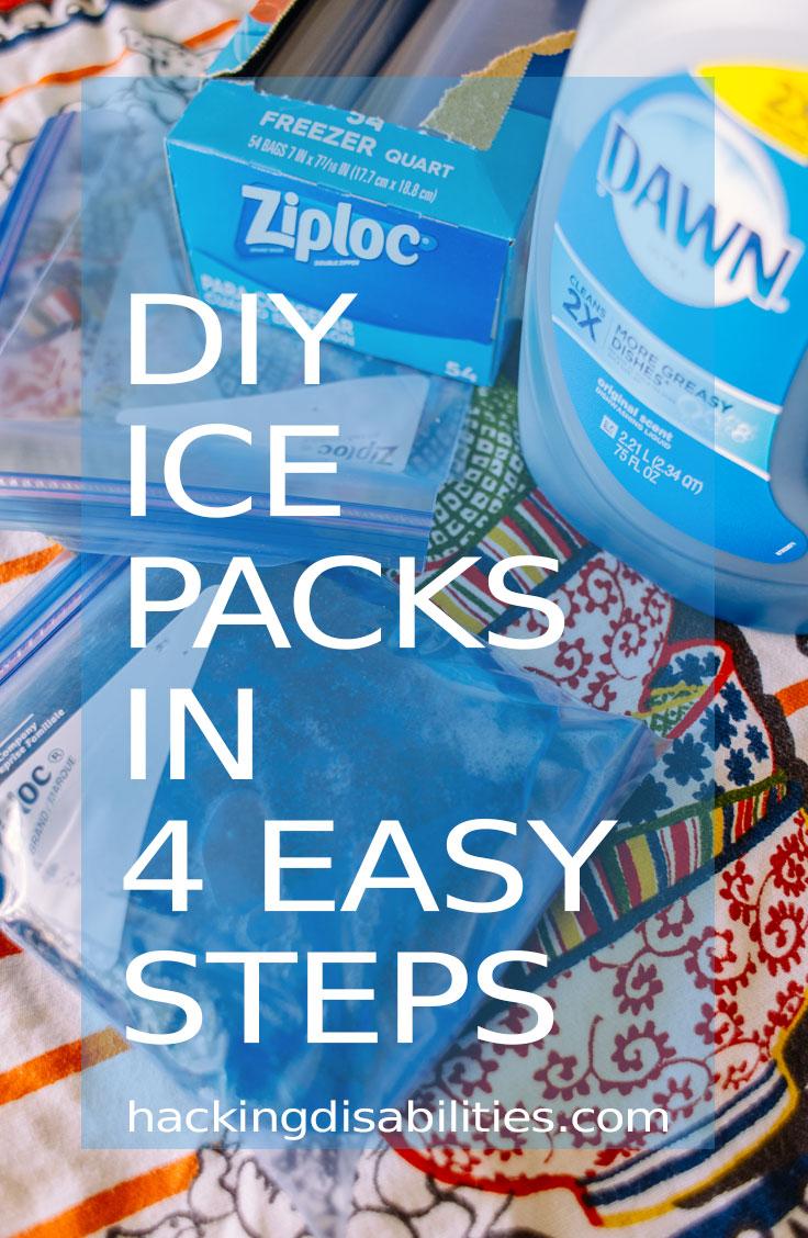 Homemade DIY Ice Packs via Hacking Disabilities
