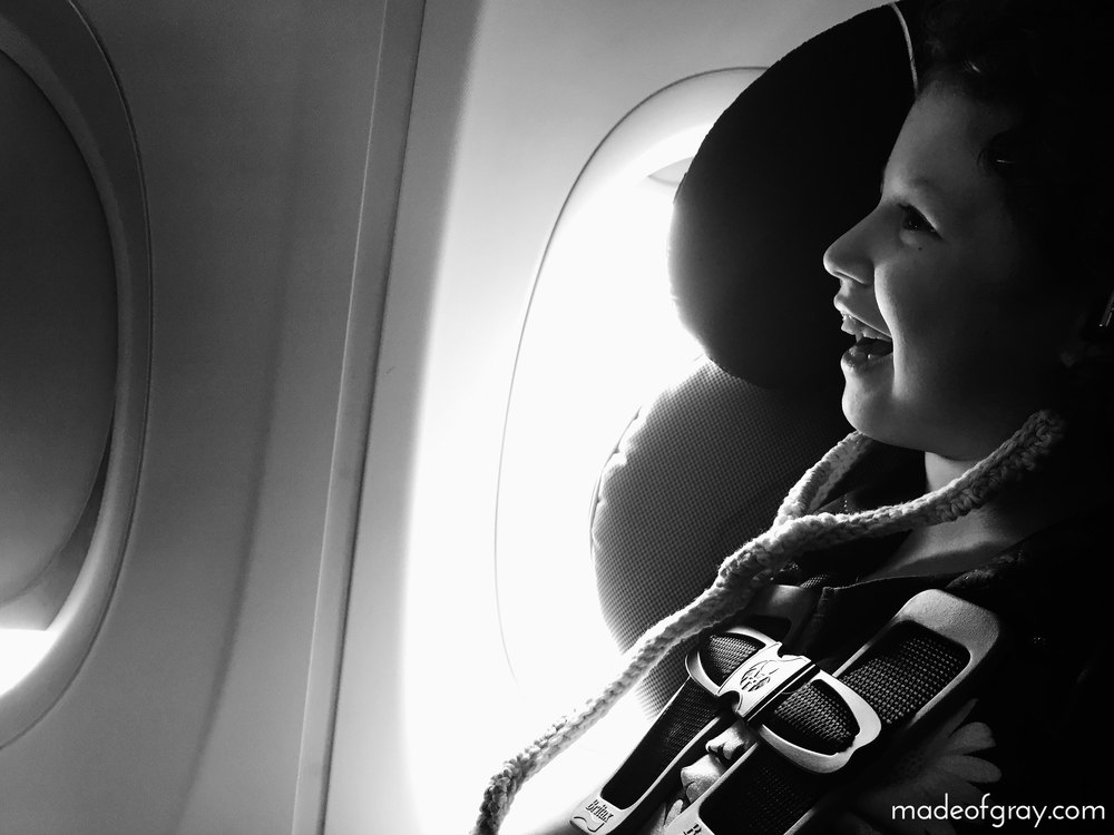 10 Tips For Flying With Your Special Needs Child via madeofgray.com