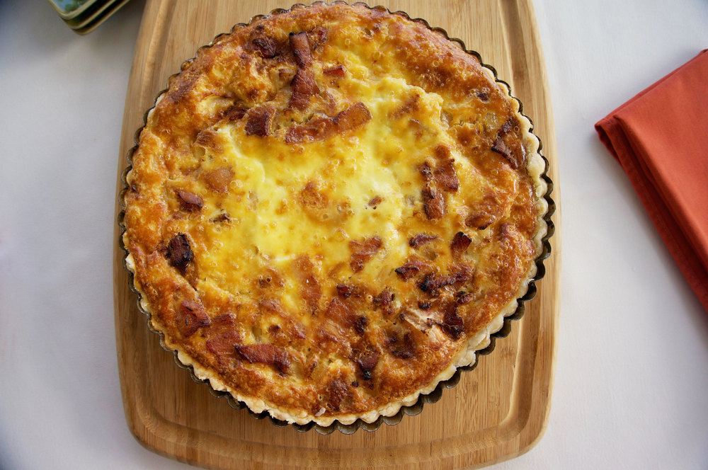 Bacon, Brie, Onion Quiche || Haute in Paradise || @hauteinparadise