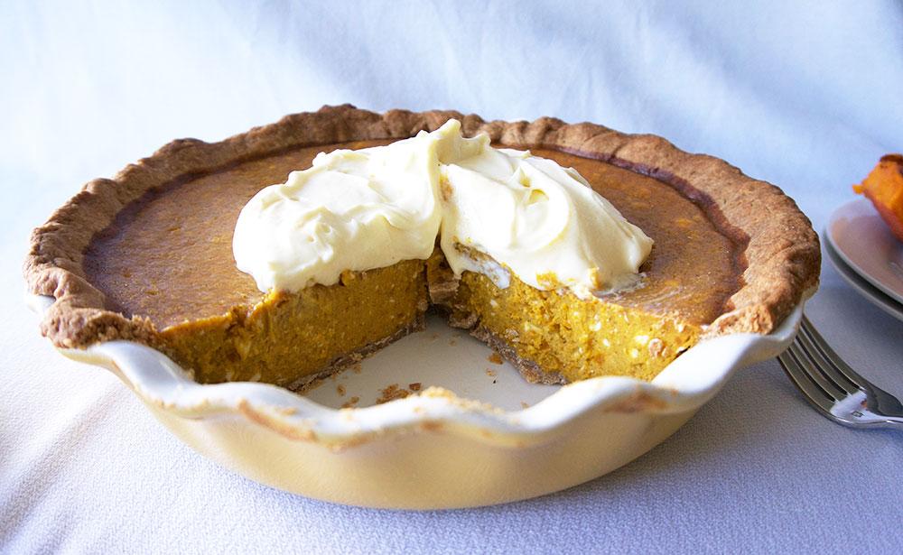 Kabocha Cheese Pie || Haute in Paradise || @hauteinparadise