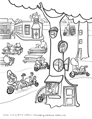 Cycle City coloring sheet