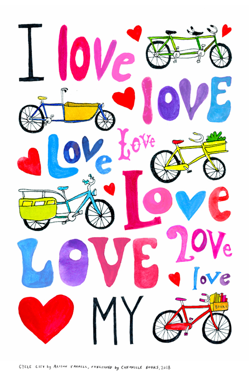 11 x 17 bicycle love poster for printing