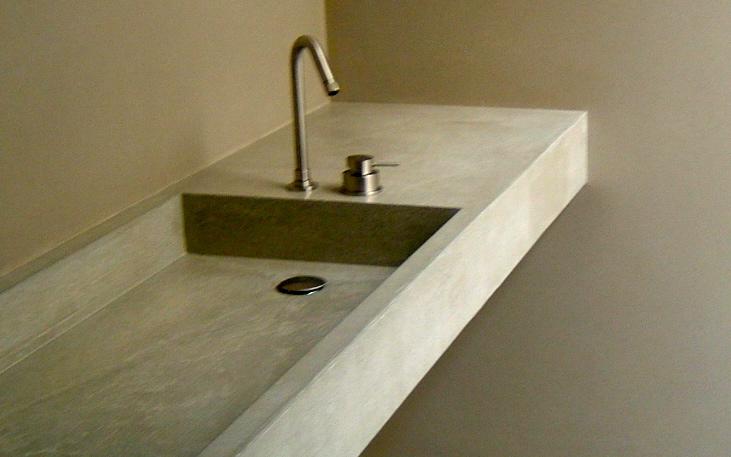 concrete vanity