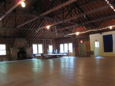 Half of the barn before the dancing begins