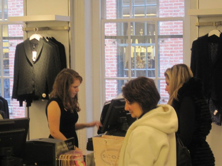 Me, circa 2010, working at Bloomingdales Soho.