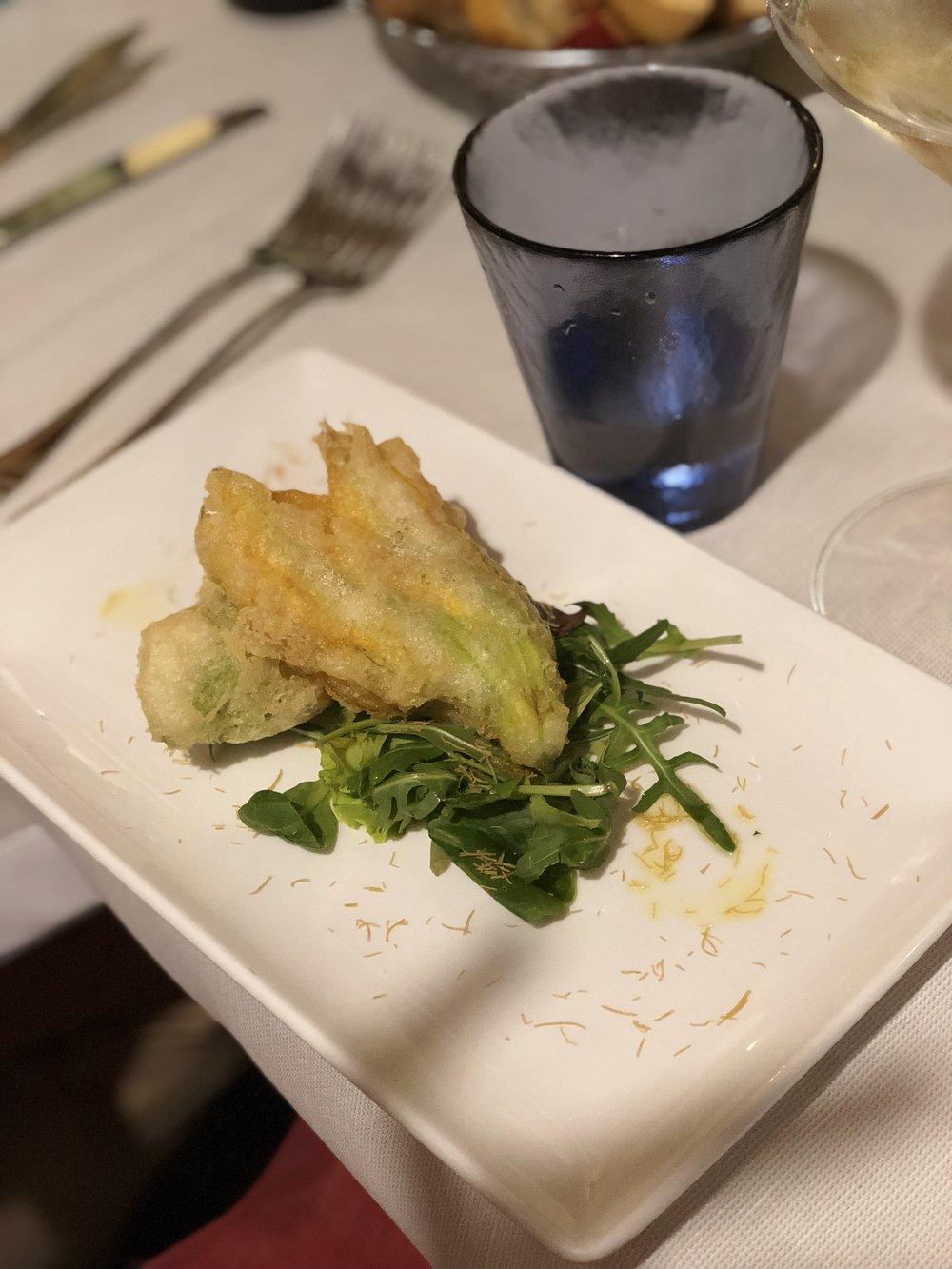 osteria oliva nera venice zucchini flowers