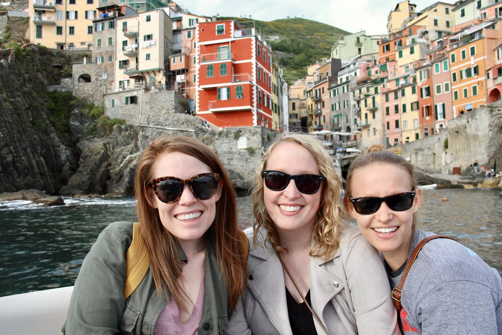 Just three sisters, exploring Cinque Terre by boat!
