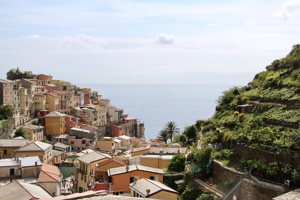 The view from the village of Manarola.