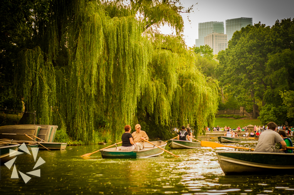 boat riding at the ramble in Central Park