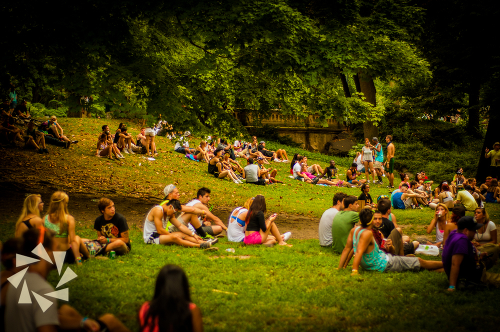 Electric Zoo Festival Concertgoers at Central park