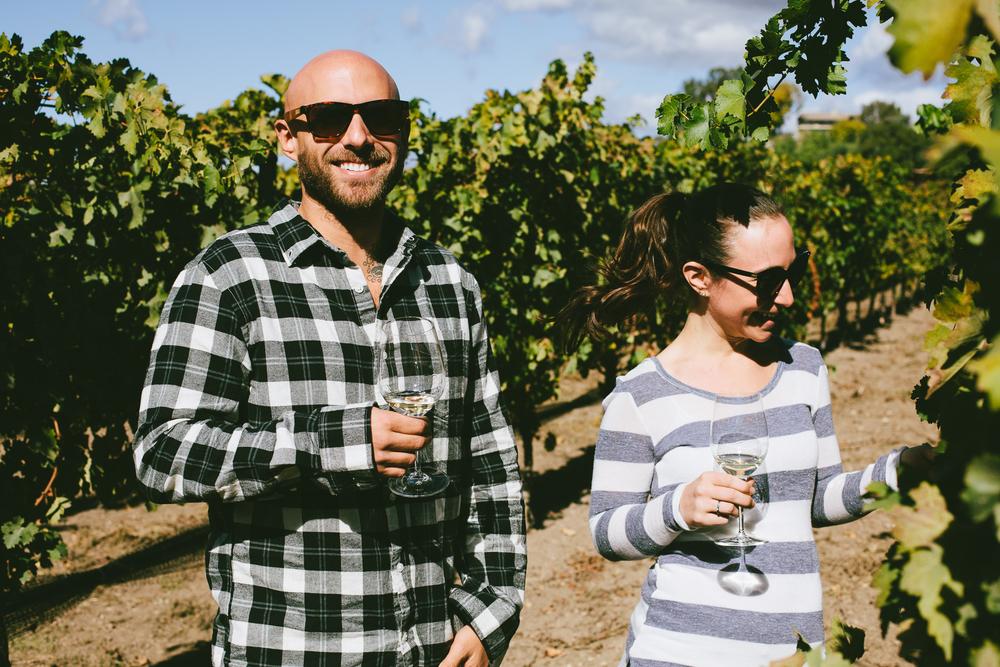 Exploring in the vineyard