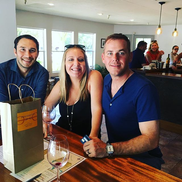 #throwbackthursday to that one time @dragonettewine #rootedvinetours #tbt #wine #seesb #visitsyv #losolivos #winetour #santabarbara #california
