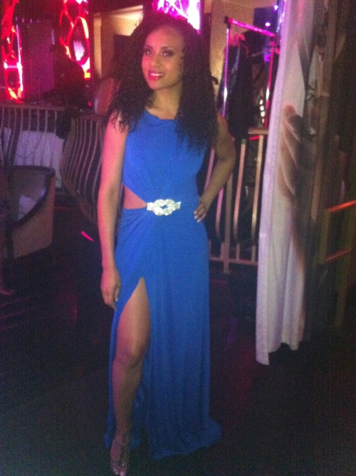 Me wearing Meleissas Royal Blue dress from her MDIZ Collections