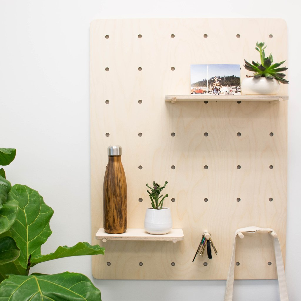 homes pegboard plywood idea diy watch shelf youtube