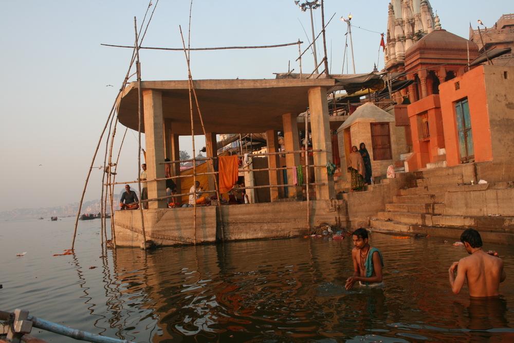 Morning puja in Varanasi