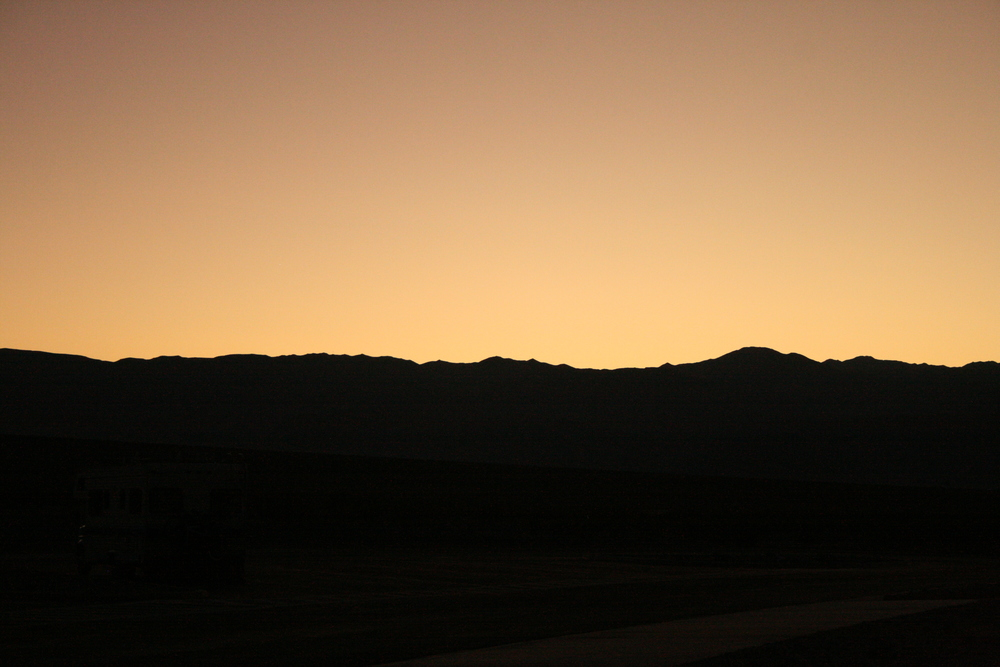 Death Valley at dusk